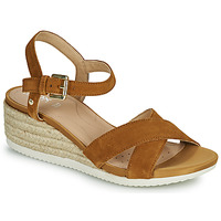 Topánky Ženy Sandále Geox D ISCHIA CORDA C Ťavia hnedá