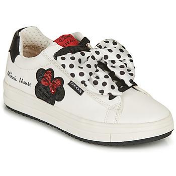 Topánky Dievčatá Nízke tenisky Geox J REBECCA GIRL B Biela / Čierna / Červená