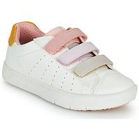 Topánky Dievčatá Nízke tenisky Geox SILENEX GIRL Biela / Ružová / Béžová