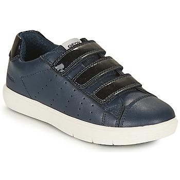 Topánky Dievčatá Nízke tenisky Geox J SILENEX GIRL B Námornícka modrá