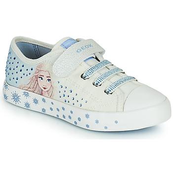 Topánky Dievčatá Nízke tenisky Geox JR CIAK GIRL Biela / Modrá