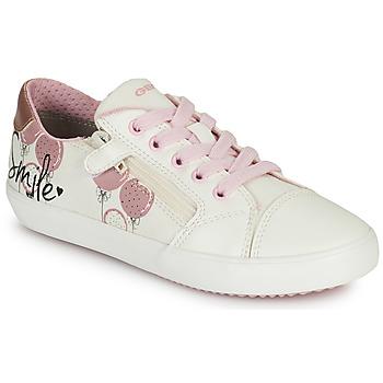 Topánky Dievčatá Nízke tenisky Geox GISLI GIRL Biela / Ružová