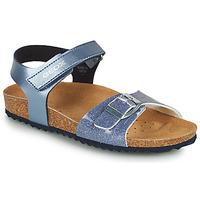 Topánky Dievčatá Sandále Geox ADRIEL GIRL Modrá
