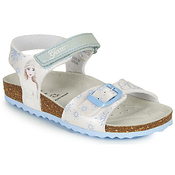 Topánky Dievčatá Sandále Geox ADRIEL GIRL Biela / Modrá