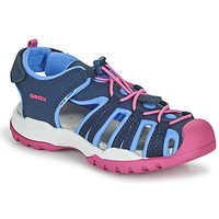Topánky Dievčatá Športové sandále Geox BOREALIS GIRL Modrá / Ružová
