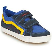 Topánky Chlapci Nízke tenisky Geox ALONISSO BOY Námornícka modrá / Žltá