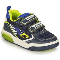 Topánky Chlapci Nízke tenisky Geox INEK BOY Námornícka modrá / Žltá