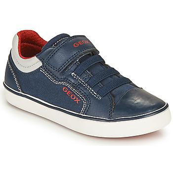 Topánky Chlapci Nízke tenisky Geox GISLI BOY Námornícka modrá / Červená