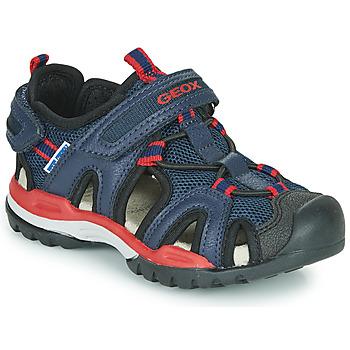 Topánky Chlapci Športové sandále Geox BOREALIS BOY Námornícka modrá / Červená