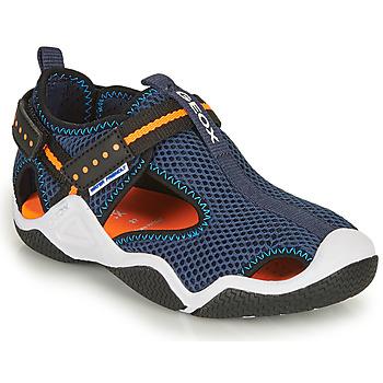 Topánky Chlapci Športové sandále Geox JR WADER Námornícka modrá / Oranžová