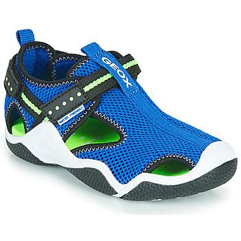Topánky Chlapci Športové sandále Geox JR WADER Modrá / Zelená