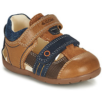 Topánky Chlapci Sandále Geox KAYTAN Hnedá / Námornícka modrá
