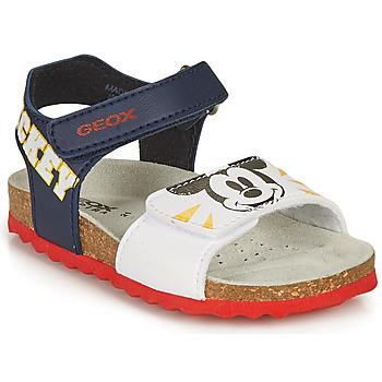 Topánky Chlapci Sandále Geox SANDAL CHALKI BOY Námornícka modrá / Biela
