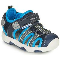 Topánky Chlapci Športové sandále Geox SANDAL MULTY BOY Modrá