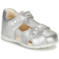Topánky Dievčatá Sandále Geox KAYTAN Strieborná