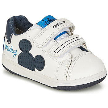 Topánky Chlapci Nízke tenisky Geox NEW FLICK BOY Biela / Modrá