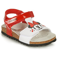 Topánky Dievčatá Sandále Geox SANDAL CHALKI GIRL Červená / Biela