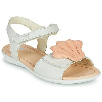 Topánky Dievčatá Sandále Camper TWINS Ružová / Biela
