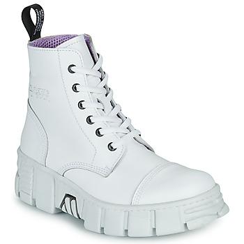 Topánky Polokozačky New Rock M-WALL005-C1 Biela