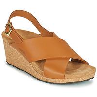 Topánky Ženy Sandále Papillio SAMIRA RING BUCKLE Hnedá