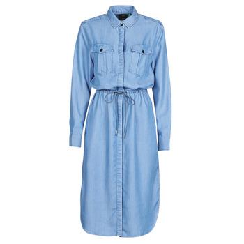 Oblečenie Ženy Dlhé šaty G-Star Raw Rovic maxi shirt dress ls Lt / Aged