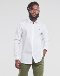 Oblečenie Muži Košele s dlhým rukávom Lacoste PITTA Biela
