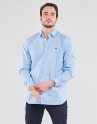 Oblečenie Muži Košele s dlhým rukávom Lacoste PITTA Modrá