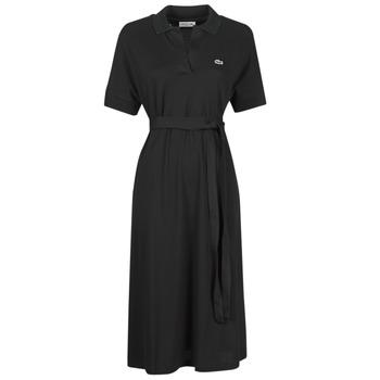 Oblečenie Ženy Dlhé šaty Lacoste KONNI Čierna