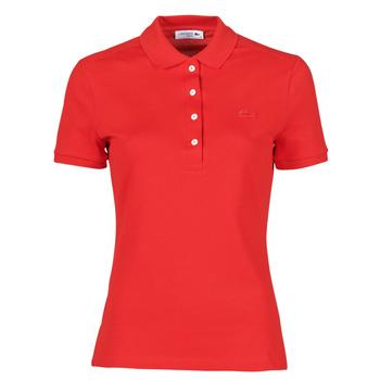 Oblečenie Ženy Polokošele s krátkym rukávom Lacoste POLO SLIM FIT Červená