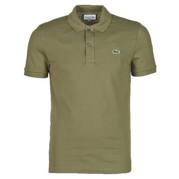 Oblečenie Muži Polokošele s krátkym rukávom Lacoste POLO SLIM FIT PH4012 Kaki