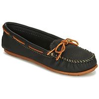 Topánky Ženy Mokasíny Minnetonka BOAT MOC Čierna