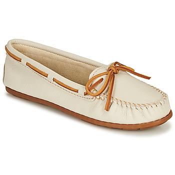 Topánky Ženy Mokasíny Minnetonka BOAT MOC Biela