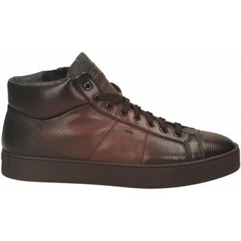 Topánky Muži Členkové tenisky Santoni POLAC.8OCC. ZIP BASKET cioccolato