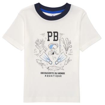 Oblečenie Chlapci Tričká s krátkym rukávom Petit Bateau MARCO Biela