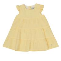 Oblečenie Dievčatá Krátke šaty Petit Bateau MERINGUE Žltá