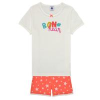 Oblečenie Dievčatá Pyžamá a nočné košele Petit Bateau MARSHA Viacfarebná