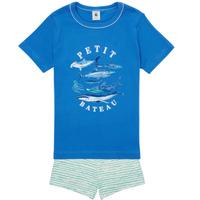 Oblečenie Chlapci Pyžamá a nočné košele Petit Bateau MAYONNAISE Viacfarebná