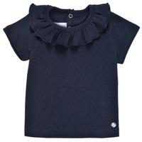 Oblečenie Dievčatá Tričká s krátkym rukávom Petit Bateau MELISSA Námornícka modrá