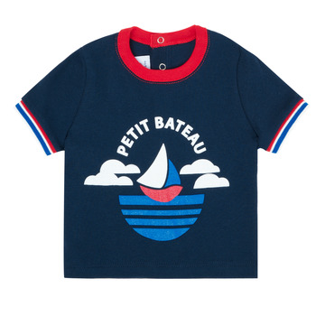 Oblečenie Chlapci Tričká s krátkym rukávom Petit Bateau MENU Námornícka modrá