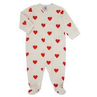 Oblečenie Dievčatá Pyžamá a nočné košele Petit Bateau MESCOEURS Biela