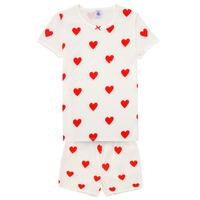Oblečenie Dievčatá Pyžamá a nočné košele Petit Bateau MICOURT Viacfarebná