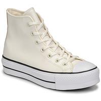 Topánky Ženy Členkové tenisky Converse CHUCK TAYLOR ALL STAR LIFT ANODIZED METALS HI Biela / Béžová