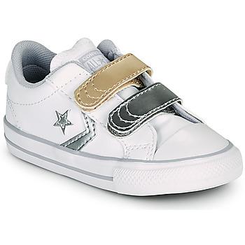 Topánky Dievčatá Nízke tenisky Converse STAR PLAYER 2V METALLIC LEATHER OX Biela