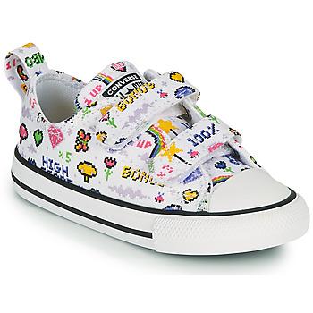 Topánky Dievčatá Nízke tenisky Converse CHUCK TAYLOR ALL STAR 2V GIRLS GAMER OX Biela / Viacfarebná