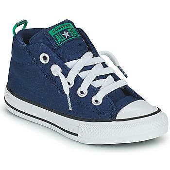 Topánky Chlapci Členkové tenisky Converse CHUCK TAYLOR ALL STAR STREET CANVAS COLOR MID Modrá