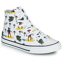 Topánky Chlapci Členkové tenisky Converse CHUCK TAYLOR ALL STAR CROCO SURF HI Biela / Zelená