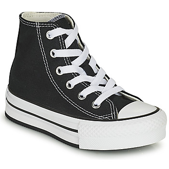 Topánky Dievčatá Členkové tenisky Converse CHUCK TAYLOR ALL STAR EVA LIFT CANVAS COLOR HI Čierna