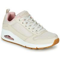 Topánky Ženy Nízke tenisky Skechers UNO INSIDE MATTERS Béžová / Ružová