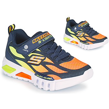 Topánky Chlapci Nízke tenisky Skechers FLEX-GLOW Námornícka modrá / Oranžová