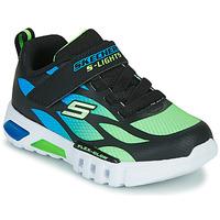 Topánky Chlapci Nízke tenisky Skechers FLEX-GLOW Čierna / Modrá / Zelená